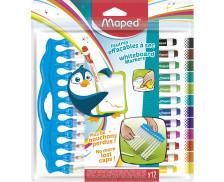 Pochette de 12 feutres effaçables - MAPED - Pointe moyenne - Assortiment de couleurs