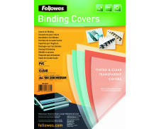 100 Couvertures PVC Transparent A4 - FELLOWES - 200 Microns