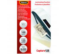 Lot de 100 pochettes de plastification - FELLOWES -  54x86 mm -125 microns