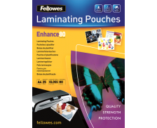 25 Pochettes de Plastification Brillantes FELLOWES A4 - 80 Microns