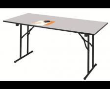 Table de réunion pliante - 120 x 80 cm - Grise