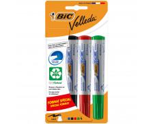 Lot de 4 marqueurs effaçables Velleda 1701 - BIC - Format spécial - 4 couleurs
