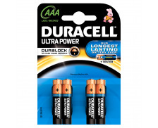 4 Piles LR03 Ultra Power - DURACELL