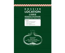 Dossier pour location libre - 50E - EXACOMPTA - contrat de location