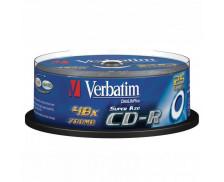 Pack 25 CD vierges CD-R 48X - VERBATIM - 80 min/700 Mb