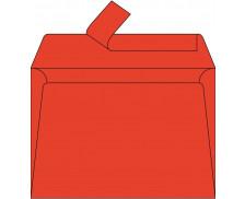 20 Enveloppes 114x162 POLLEN - rouge corail 120g adhéclair