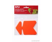 Paquet de 10 flèches en polypropylène 8x12 cm - Orange fluo