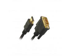 Câble HDMI DVI mâle/mâle 1.3B - APM - Gold - 1.80m