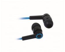 Ecouteurs intra-auriculaires avec micro - APM - Noir / Bleu