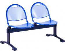 Chaises de salle d'attente - 2 places - L123 x H79.2 cm - Métal
