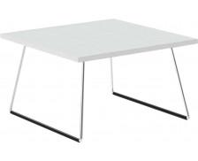 Table basse fine - 60 x 60 cm - Blanc