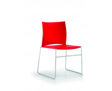 Chaise - PAD - Rouge - Polypropylene