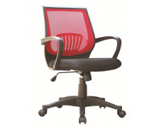 Fauteuil de bureau BAHIA - Tissu Mesh - Noir/rouge