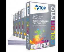 Caisse de 5 Ramettes de 500 Feuilles ColorPro - TOP OFFICE - A4 - 90g - Blanc