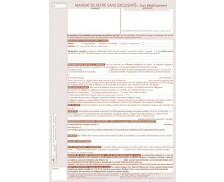 Lot de 25 mandats simple de vente hors établissement - TISSOT - Professions immobilières