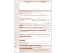 Lot de 25 mandats exclusif de vente hors établissement - TISSOT - Professions immobilières