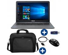 Ensemble ordinateur portable R540UA + souris filaire + pochette ASUS + clé USB 32 GO EMTEC