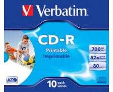 Pack de 10 CD-R 52x - VERBATIM - 700Mb
