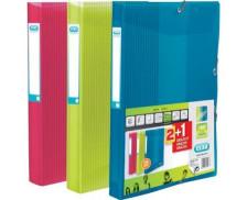 Lot de 2+1 boîtes de classement School Life 24x32 cm - ELBA - Dos 25 mm - Coloris assortis