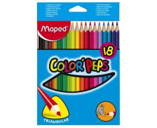 Pochette de 18 crayons de couleur Color pep's - MAPED - Assortiment de couleurs