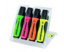 Pochette 4 surligneurs Executive Boss - STABILO - Assortiment de couleurs