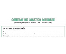 Contrat de location - 51E - EXACOMPTA - Locaux meublés