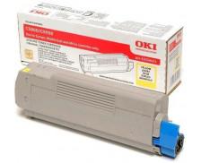 Toner laser 43324421 - Oki - Jaune