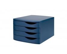 Bloc de Classement 4 Tiroirs - JALEMA - Bleu/Bleu
