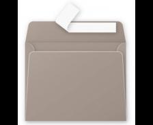 20 Enveloppes 90x140 Pollen - gris 120g adhéclair - CLAIREFONTAINE