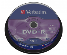 Pack 10 DVD vierges DVD+R 16X - VERBATIM - 4,7Gb