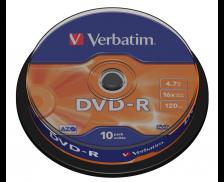 Pack 10 DVD vierges DVD-R 16X - VERBATIM - 4,7Gb