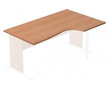 Plateau compact blanc droit ELEA, largeur : 160 cm