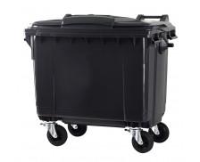 Poubelle conteneur 4 roues - CEP - 660 litres - Gris