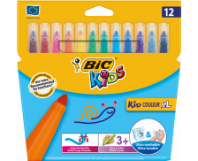 Lot 12 feutres Kid couleur - BIC - Pointe XL