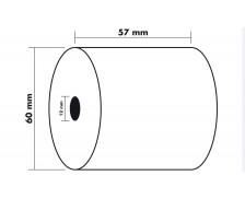 Lot de 5 bobines thermique - 1 pli - EXACOMPTA - 57 x 60 x 12 mm