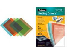 100 couvertures PVC transparentes - FELLOWES - A4 - 200 microns - Rouge