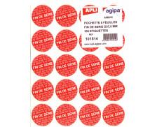 100 pastilles Fin de série - APLI AGIPA - Diam 37,5mm