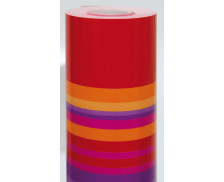 Rouleau Alliance Fantaisie - CLAIREFONTAINE - 50x0,7m - Rayures rouge/or/rose
