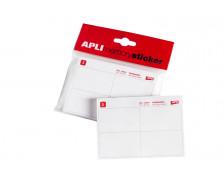 Bloc de 200 étiquettes badges permanent - AGIPA - 50x30 mm