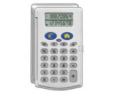 Calculatrice de poche 8 chiffres - HITECH C1482 -  Convertisseur - Gris