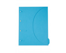 Chemise pelliculée 24x32 cm - SMART FOLDER - Bleu