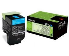 Toner laser 80C20C0 - Lexmark - Cyan