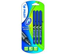 Lot de 3 stylos rollers Vball 0.5mm - PILOT - Bleu