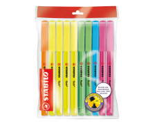 Pack 10 surligneurs Flash - STABILO - Assortiment de couleurs