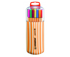 Lot de 20 stylos-feutre Point 88 - STABILO - Pointe fine - Assortiment de couleurs