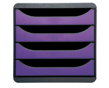 Bloc de Classement Bigbox - JALEMA - 4 Tiroirs - Gris Violet
