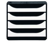 Bloc de Classement Bigbox - JALEMA - 4 Tiroirs - Noir Blanc