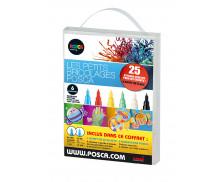 Lot de 6 marqueurs peinture tout support - UNI POSCA - Assortiment de couleurs