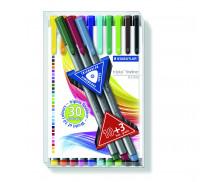 Lot de 13 stylos-feutre pointe fine - STAEDTLER - Assortiment de couleurs