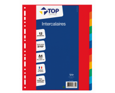 Intercalaires A4+ - TOP OFFICE - 12 positions